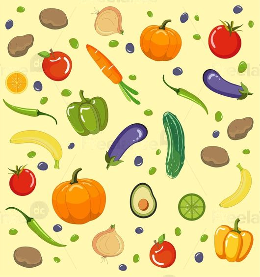 Векторная графика Овощи и фрукты, Freelance.Discount