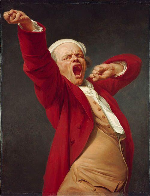Joseph Ducreux: Self portrait Yawning  http://annabregmanportraits.co.uk/unusual-self-portraits/