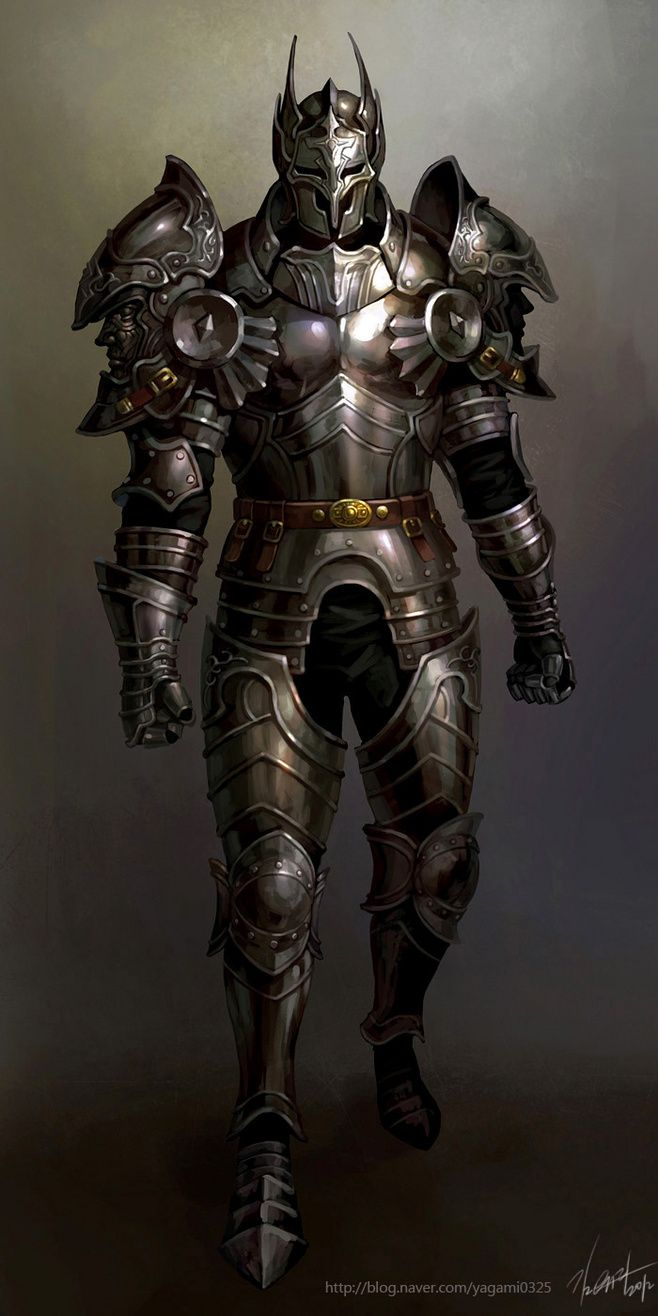 Knight Armor | NOT OUR ART - Please click artwork for source | WRITING INSPIRATION for Dungeons and Dragons DND Pathfinder PFRPG Warhammer 40k Star Wars Shadowrun Call of Cthulhu and other d20 roleplaying fantasy science fiction scifi horror location equipment monster character game design | Create your own RPG Books w/ www.rpgbard.com