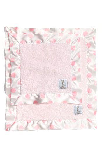 Infant Little Giraffe 'Love on the Go' Mini Blanket & Blanky Set - Pink
