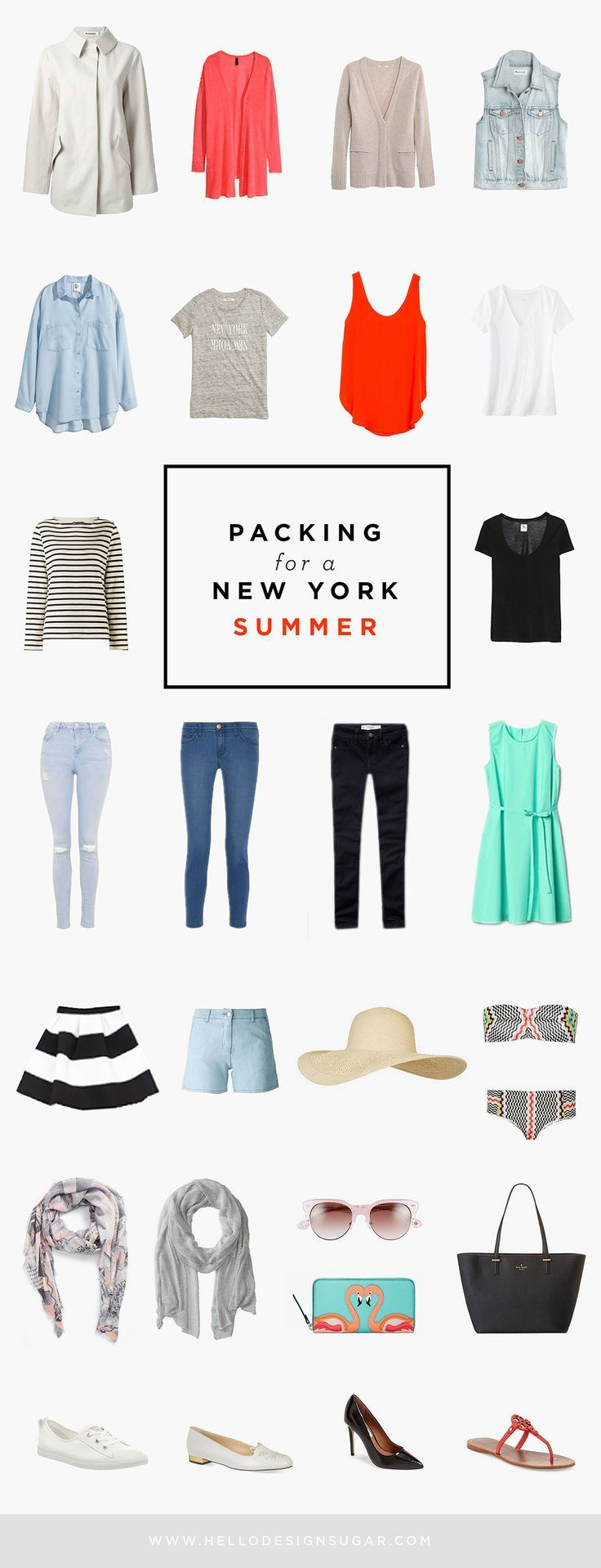 What to pack for NYC in summer. #travel #packing #clothes