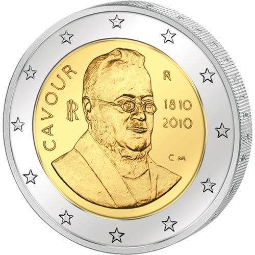 moneda conmemorativa 2 euros Italia 2010., Tienda Numismatica y Filatelia Lopez, compra venta de monedas oro y plata, sellos españa, accesorios Leuchtturm