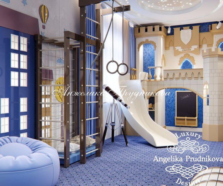 Дизайн интерьера детской игровой комнаты в Миллениум парк - фото