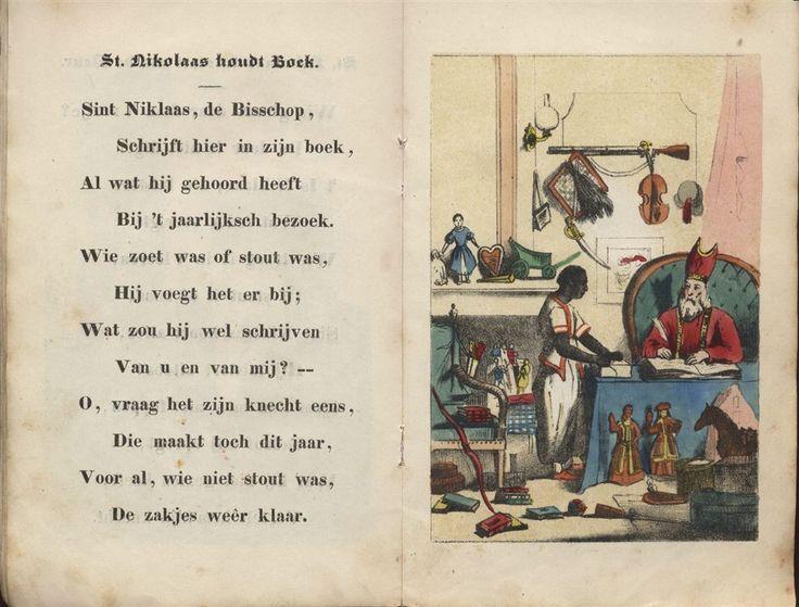 St. Nikolaas houdt boek. Sint Nikolaas en zijn Knecht - Jan Schenkman 1850 uitgave G. Theod. Bom Amsterdam