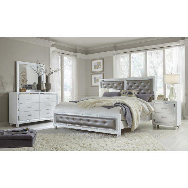 Rhona Upholstered Standard Configurable Bedroom Set Bedroom Sets