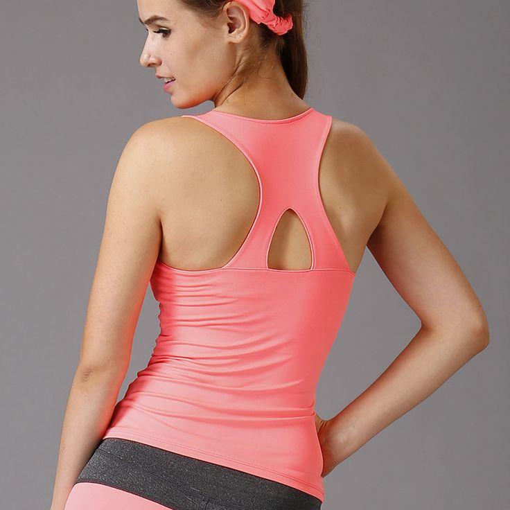 Fitness serbatoio di allenamento con il rilievo top donne di estate palestra sport vest shirt tee yoga in esecuzione delle signore abbigliamento femminile training exercise