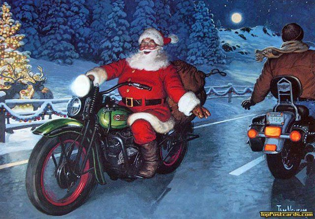 Motorcycle - Motorcycle - Christmas - Holidays - Top Postcards, send only the best of the best Free eCards, Online Greeting Cards, Birthday eCards, Printable ...