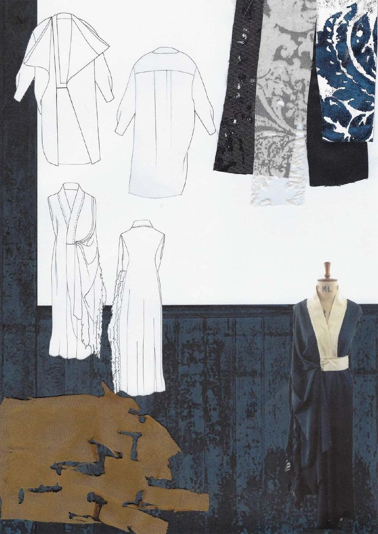 Fashion Sketchbook - fashion drawings & distressed texture research; fashion portfolio // Amanda Svart