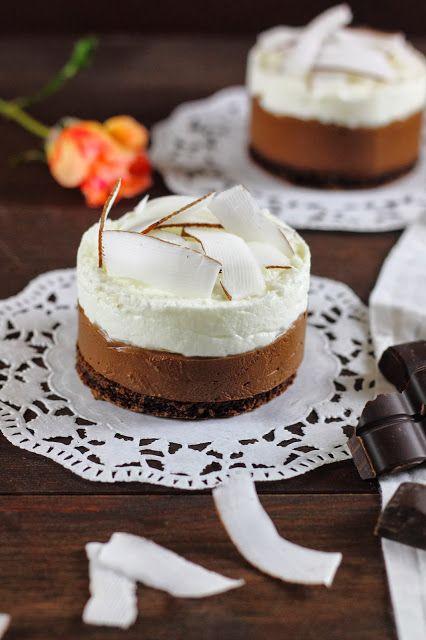formine e mattarello: Mousse al cioccolato e cocco con biscotto al cacao