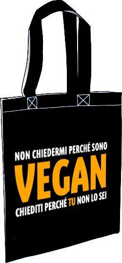 Borsa Perché sono vegan [AgireOra Edizioni]