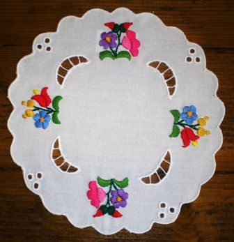 Embroidered tablecloth from Kalocsa.