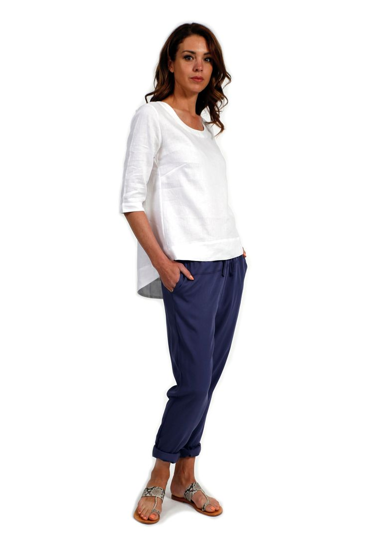 Steel Drawstring Relaxed Pant - Surafina