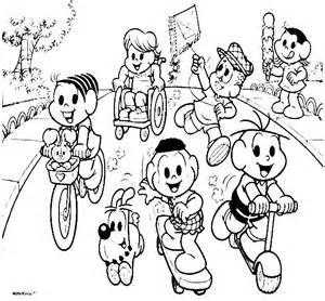 Amigos especiais turma da mônica para colorir - Bing images