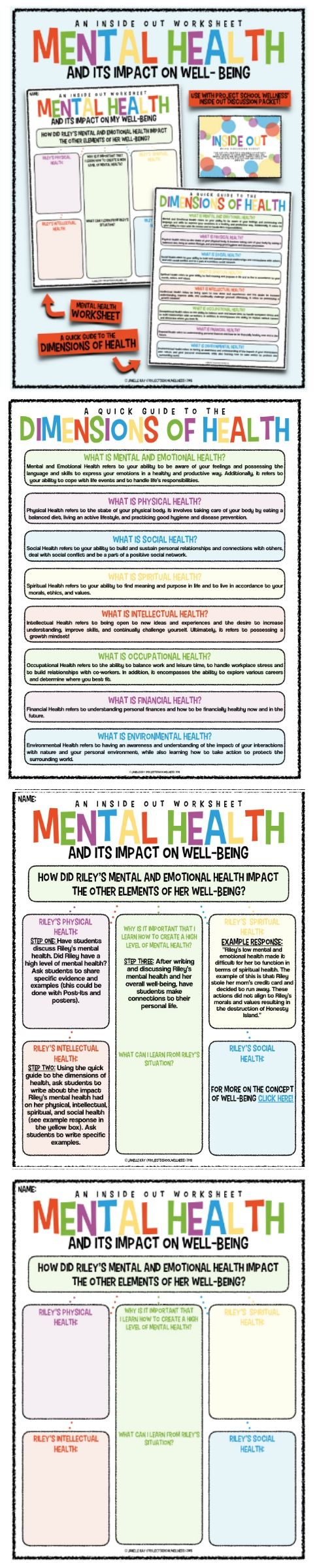 Inside Out Worksheet: Mental Health & Well-Being (Inside Out Lesson Plans)