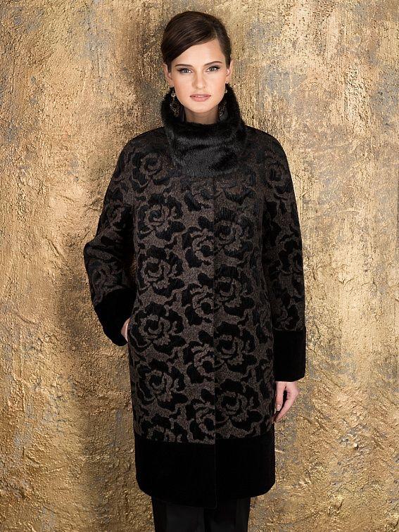 Пальто женское цвет мультиколор, шерсть вареная, мембрана, артикул 10141490