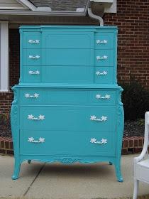 Benjamin Moore Bahaman Sea Blue 2055-40 turquoise dresser