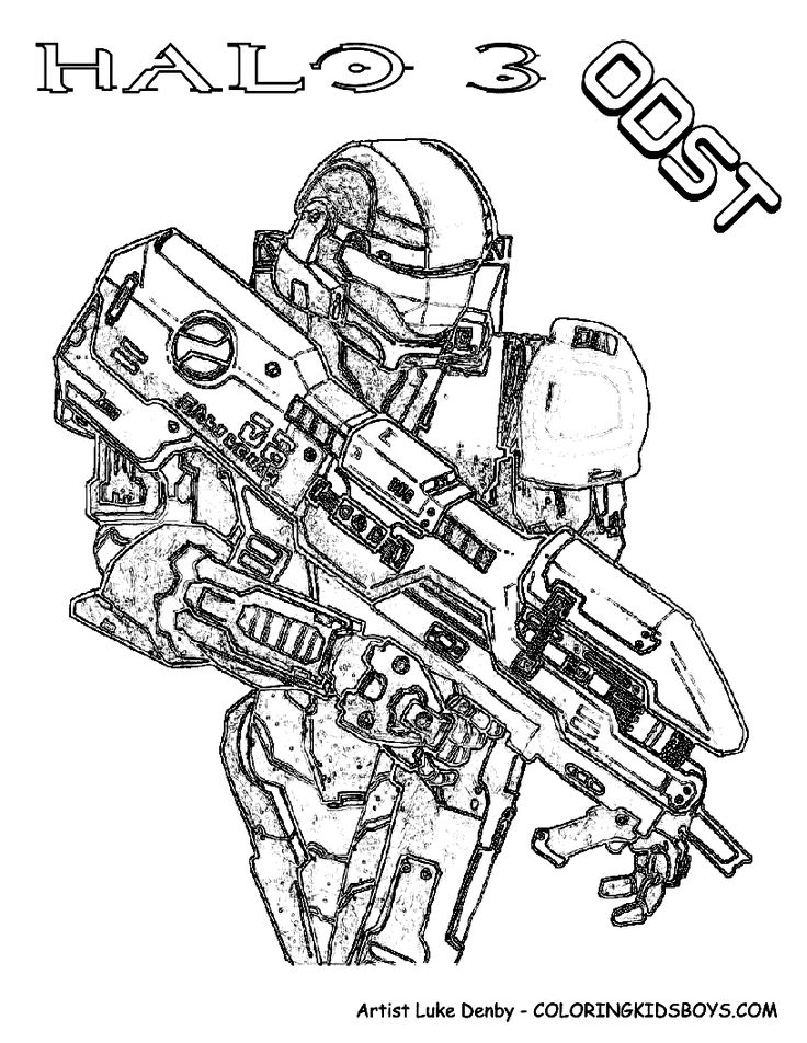 halo 3 odst coloring pages - photo#19