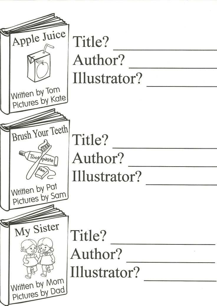 Worksheets For Librarians : Parts of a book title author illustrator st grade