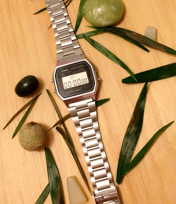 watch casio silver palm