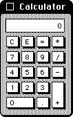 Calculator in System 1.1 (Calculator)