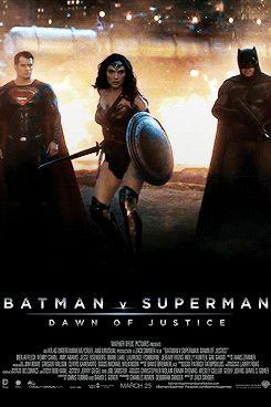 "legendsofdc: """"Batman V Superman Motion Posters "" """