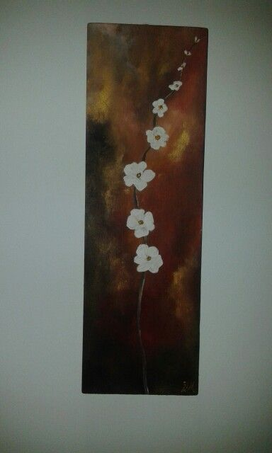flowers wooden acrylics