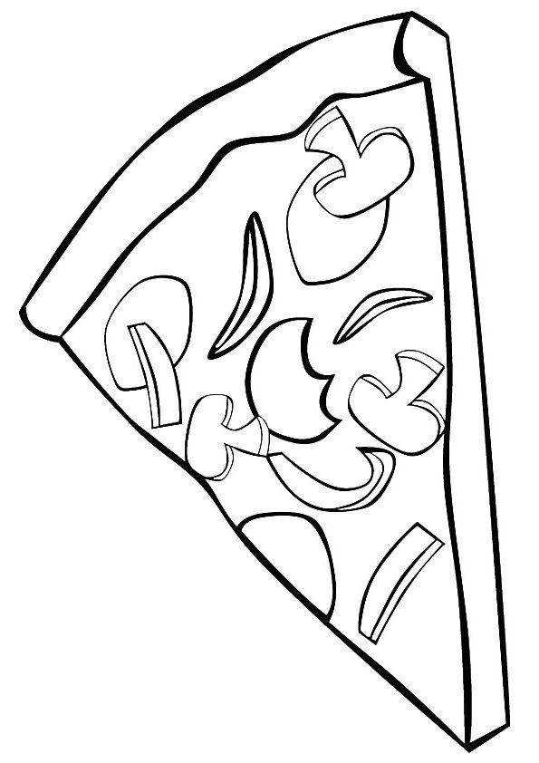 Top 15 Pizza Coloring Pages Pizza Coloring Page Coloring Pages
