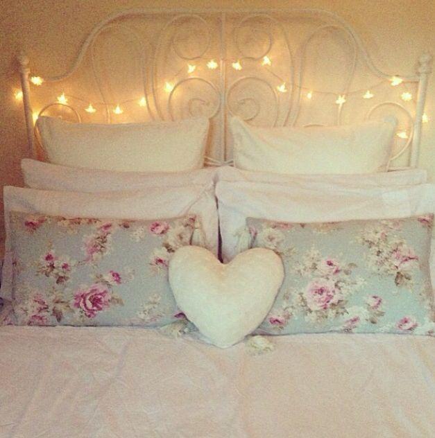 Best Floral Bedroom Inspiration Images On Pinterest Bedroom - Girls bedroom fairy lights