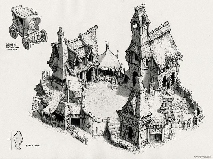 Image result for small game village sketches