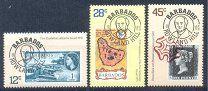 #Барбадос 1979 Хилл. Первые марки 3 м. - 50 р. #  Michel #  460/62.Оплата - карта Сбербанка. Состояние - отличное.UPU история Почты