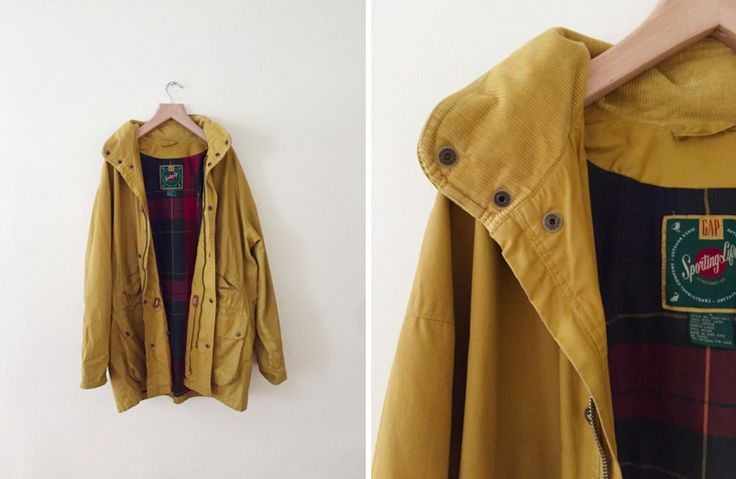 vintage gap mustard yellow jacket by Parsimonia Clothes