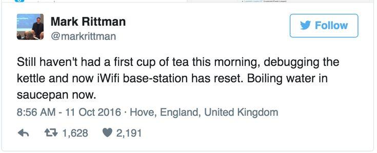 Man v Machine - the battle of the tea. Smart machine
