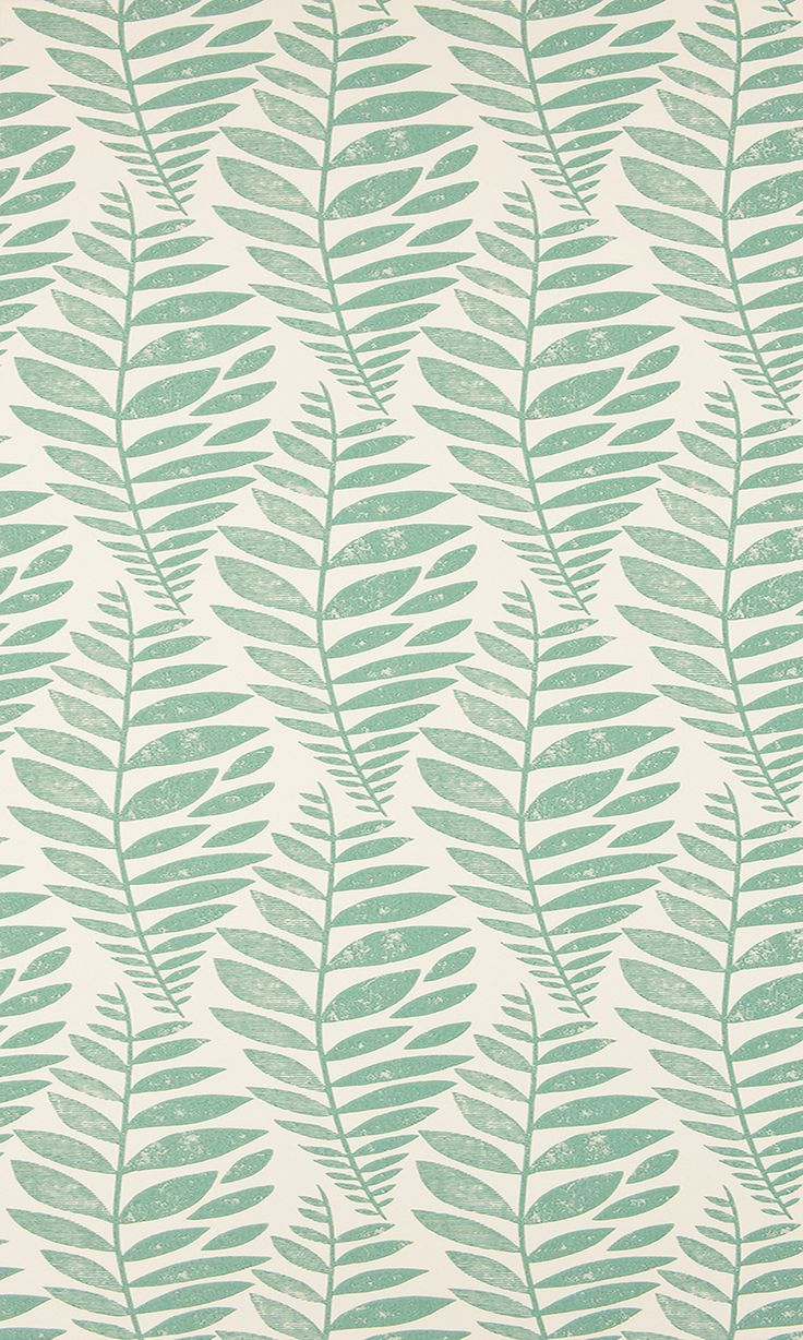 green leaf print wallpaper pattern