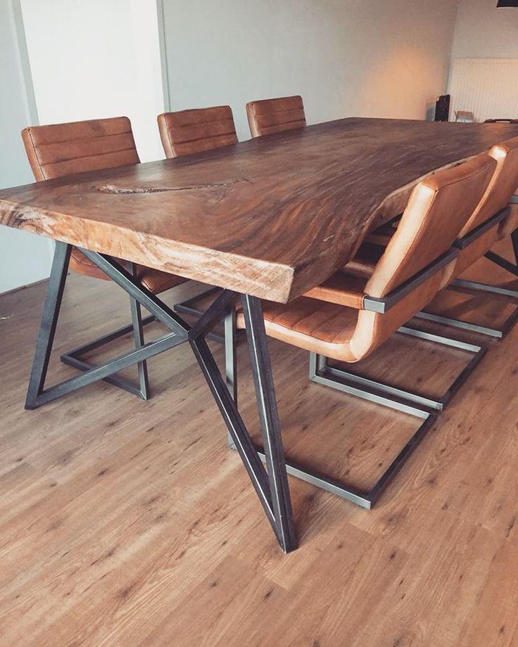 Custom Table Frame Custom Frame Metal Table Holztisch Design Esstisch Design Tischdesign
