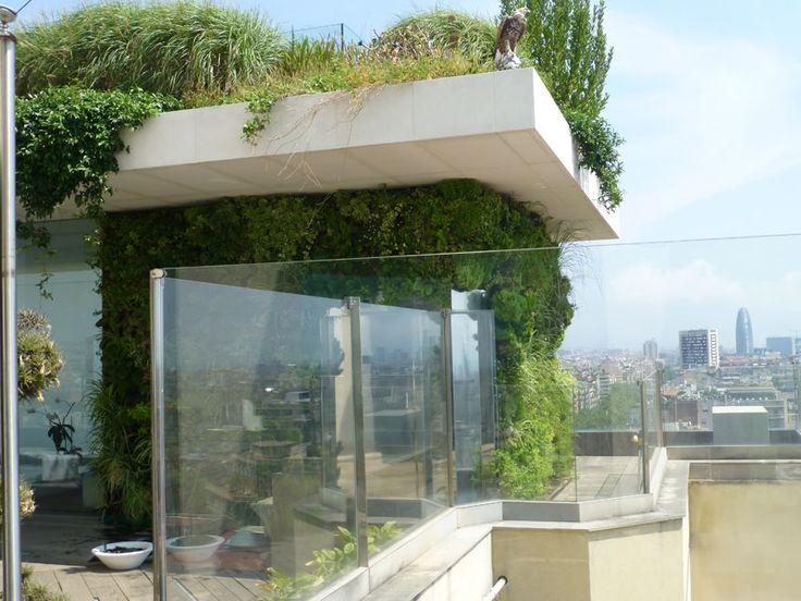 Natural gardens paisajistas jardines verticales roof for Pinterest jardines verticales