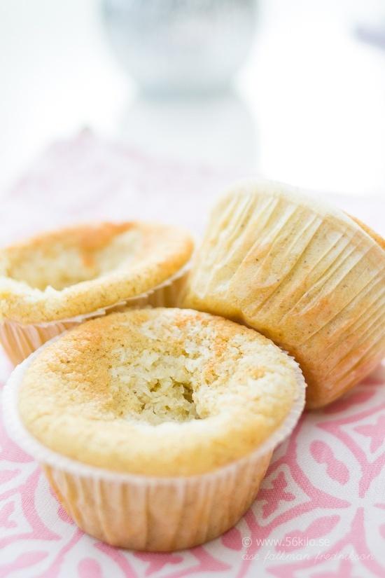 LCHF-muffins med kokosfyllning @ 56kilo – LCHF Recept, inspiration, mode och matglädje!