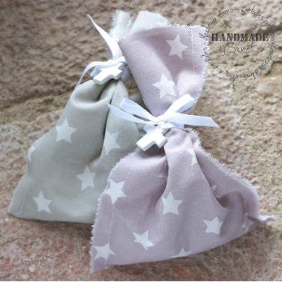 Bolsa de peladillas con cruz de cerámica de SweetCo