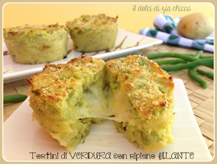 I Tortini di verdura con ripieno filante, un modo diverso per gustare della verdura sana e nutriente ma mantenendo gusto e sapore