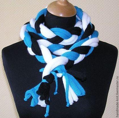 Шарф-коса - шарф,шарф женский,шарф вязаный,шарфик,шарф-коса,зима 2014
