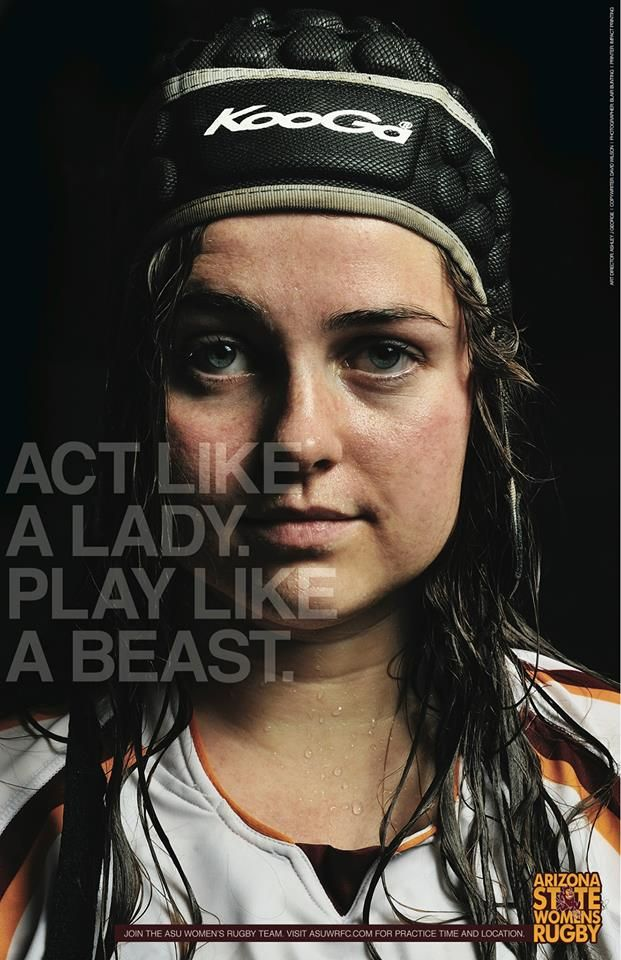 Arizona State Women's Rugby 2014 Calendar  Act Like a Lady  http://www.asuwrfc.com/SHOP.htm