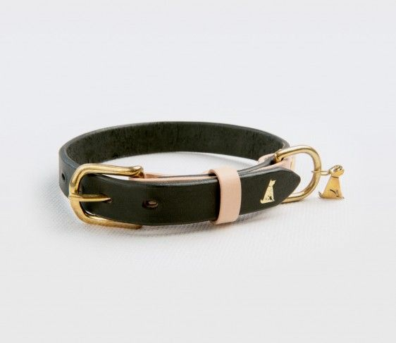 "Le Noir Collection Dog Collar | ""Charcoal"""