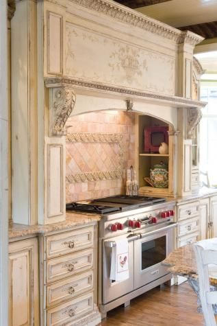 109 best images about french country kitchen on pinterest for French country white kitchen cabinets
