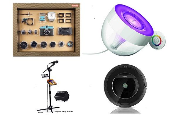 Unique Gadget Gifts For The Holidays - http://www.gadget.com/2014/12/23/unique-gadget-gifts-holidays/ gadget gifts, gadget presents, holiday gadgets, iris lamp, irobot roomba, karaoke machine, robot vacuum, unique gadgets