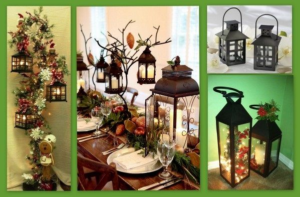Holiday Lantern Decoration Ideas from hotref.com