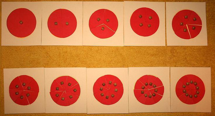 Tutorial per costruire gli incastri delle frazioni (o settori circolari delle frazioni) Montessori con cartamodelli e istruzioni.Gli incastri delle frazioni sonodieci piastrelle quadrateidentiche (bianche o verdi) nelle quali si incastra un identico cerchio rosso. L'incastro rosso è suddiviso dall'intero ai…