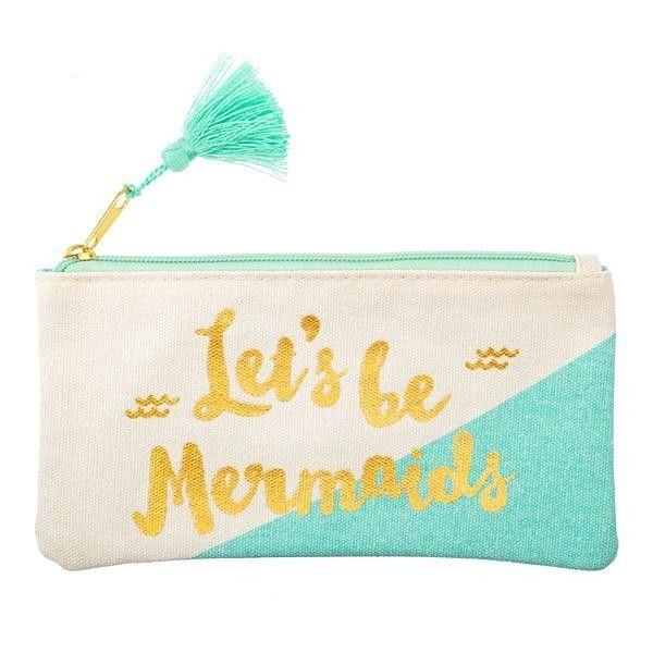 Let's Be Mermaids Canvas Zipper Bag