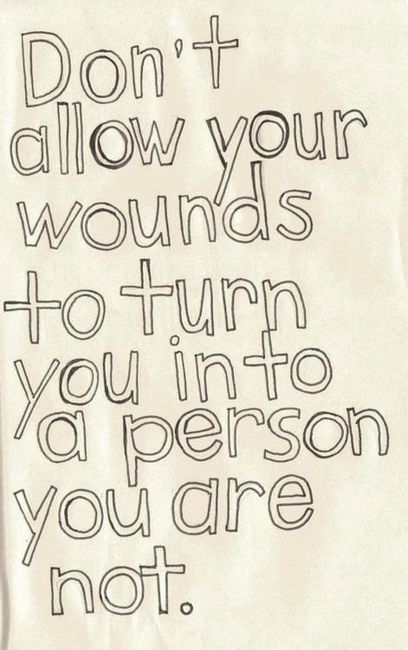 Your wounds are not your identity