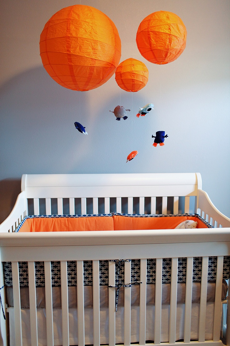 Monster Theme Nursery - I like the paper lanterns for part of the mobile.