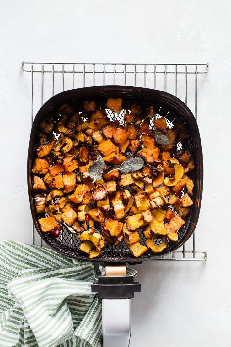 Air Fryer Maple Sage Squash Recipe Healthy recipes