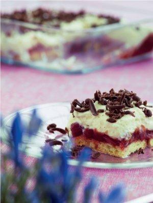 Tiramisu med rabarberkompot og hjemmelavede ladyfingers | Magasinet Mad!